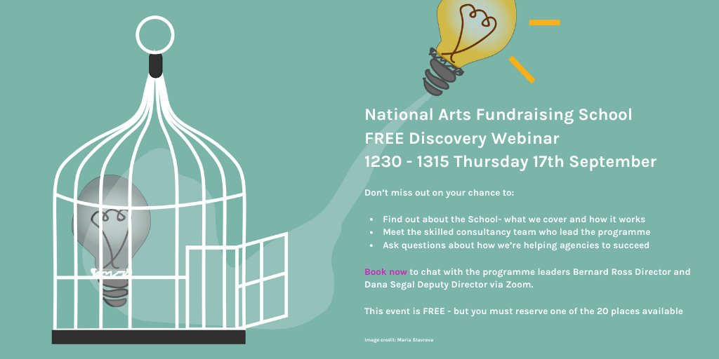 Want 2 find out what's involved in the world's most intensive #artsfundraising training and coaching programme? Find out nsday 4 free on Wed 17th 12.30-13.15.