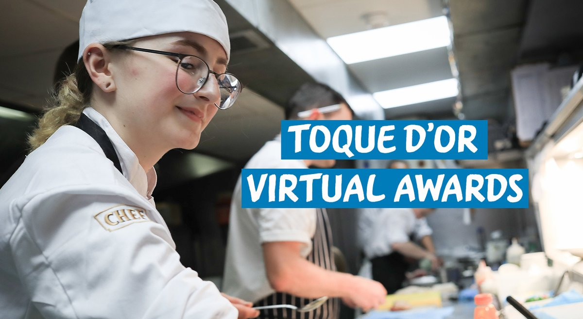 Its almost time for the @NestleToquedor awards! After the success of the Digital Finals, this years hospitality competition winners will be announced at the virtual event later today. Head over to bddy.me/3mbSRMw at 4pm to join the event! #ToquedOr2020 #YouthSkills