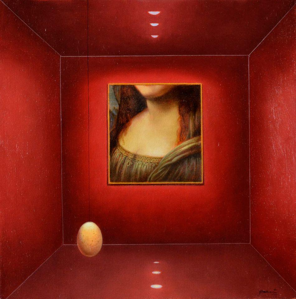 """ La joie de vivre "",  huile sur toile, cm 40x40 ""Sur les traces de Léonard da Vinci "" ©https://t.co/mH4uEVEWWC All right reserved #antonionunziante #masters #artsy #atelier #metafisica #arteitaliana #art #arte #artecontemporanea #artist #contemporaryart #artemoderna #italy https://t.co/82xFwmtary"