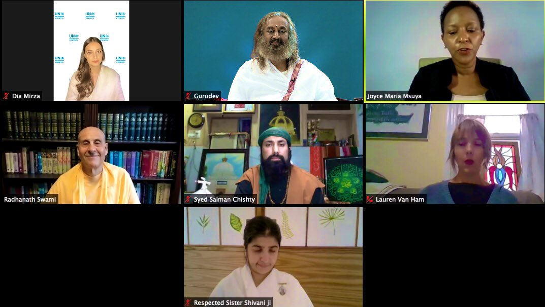 Addressed a webinar on 'Faith for  Earth' to accelerate nature actions for a sustainable future, organized jointly by United Nations Environment Programme @UNEP, @uriglobal and @religionworldIN. https://t.co/WKVmKZZHll
