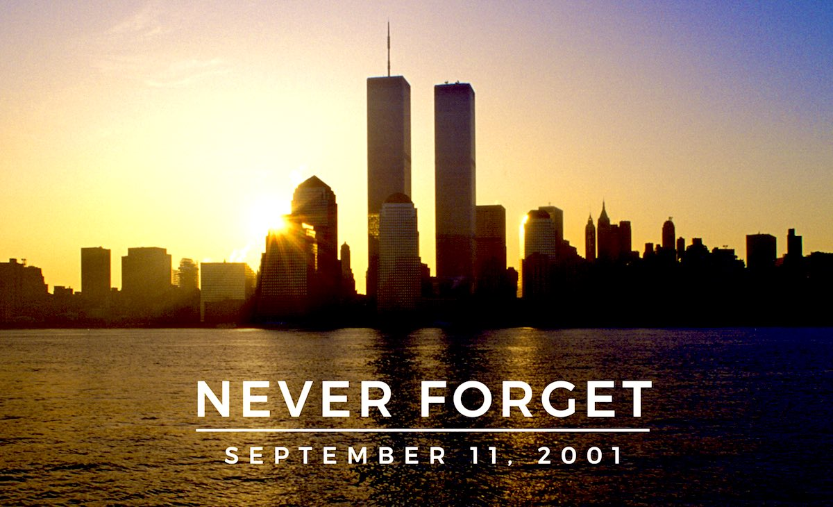 For all those who lost their lives.  For everyone who lost a loved one. For those who were injured. For the emergency service workers who ran towards danger. For every person who's life changed on this day 19 years ago #911anniversary #NeverForget911 https://t.co/FpEaRDSUwv