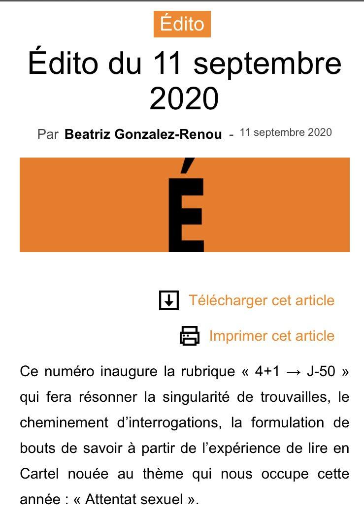 DESaCORPS WE n°18 - retrouvez l'édito de Beatriz Gonzalez-Renou : https://t.co/2Hg0fOrv0M https://t.co/ES2iPawq2R