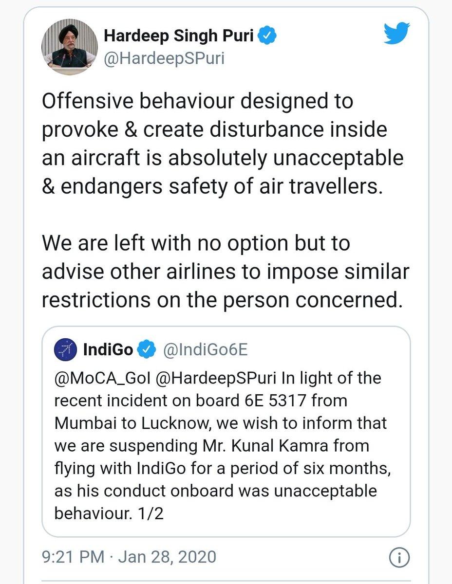 Here is civil aviation minister @HardeepSPuri himself explaining the rule https://t.co/vT10wAsIKt https://t.co/noqZyEEcJw