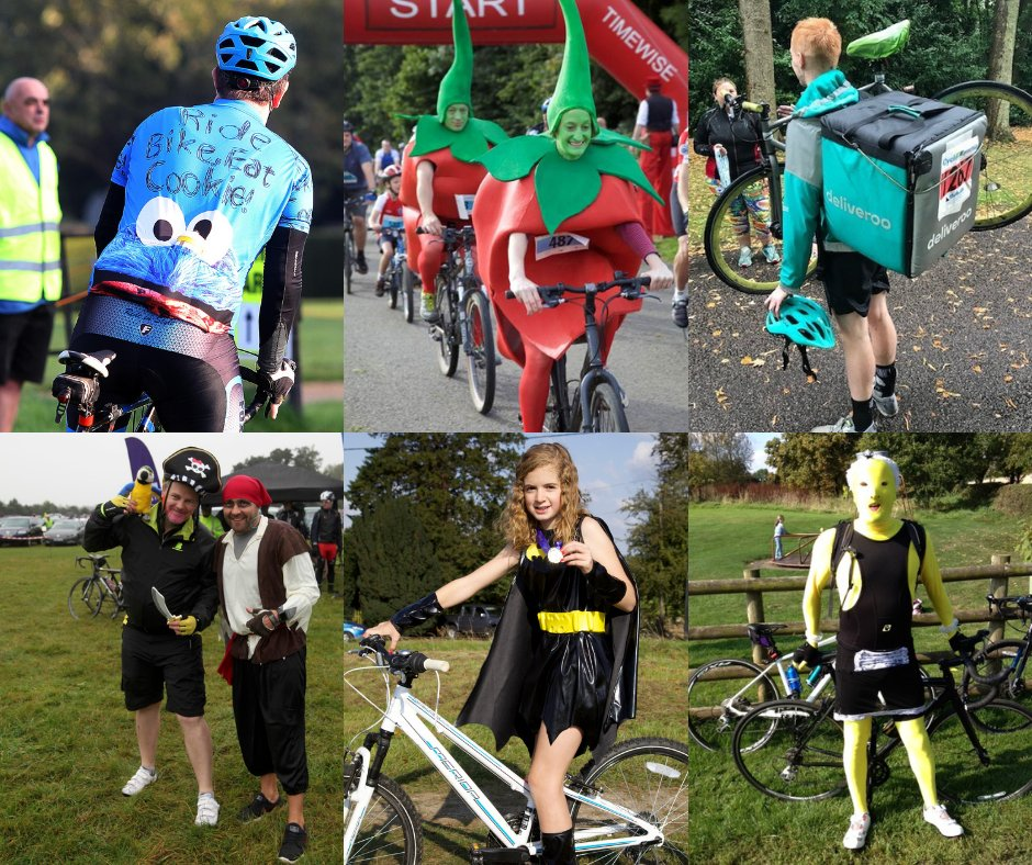 It's C4C #FancyDressFriday 🍅🍪🐦  We're not sure whether that deliveroo order arrived hot and on time but we do know that every mile counted towards raising vital funds for their local hospice! Don't 'Just Eat'.... ride in the seat and complete your virtual C4C this September! https://t.co/WClyyhOvjB