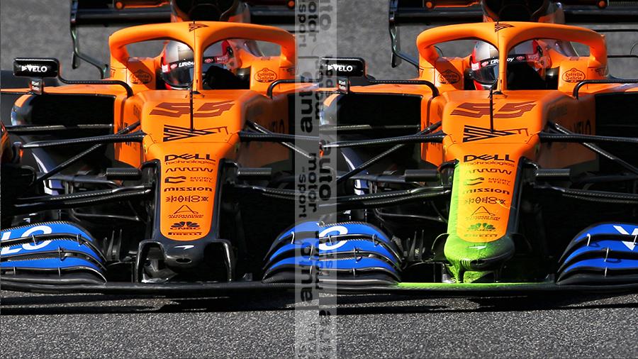 Direct comparison - McLaren old nose vs. new nose...  #AMuS #F1 #TuscanGP https://t.co/mOQKA5B8jU