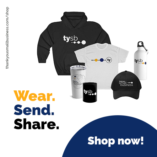Buy #tysb Merch, wear your small biz support, share on social, and we will send 100% of the profits to business owners as Thank You Prizes. Printed by @printify https://t.co/qxSAgGnYOW #tysb #tysmallbiz #tysbchallenge #merch #wearsendshare #smallbiz #smallbusiness https://t.co/9pZe4rOUzh