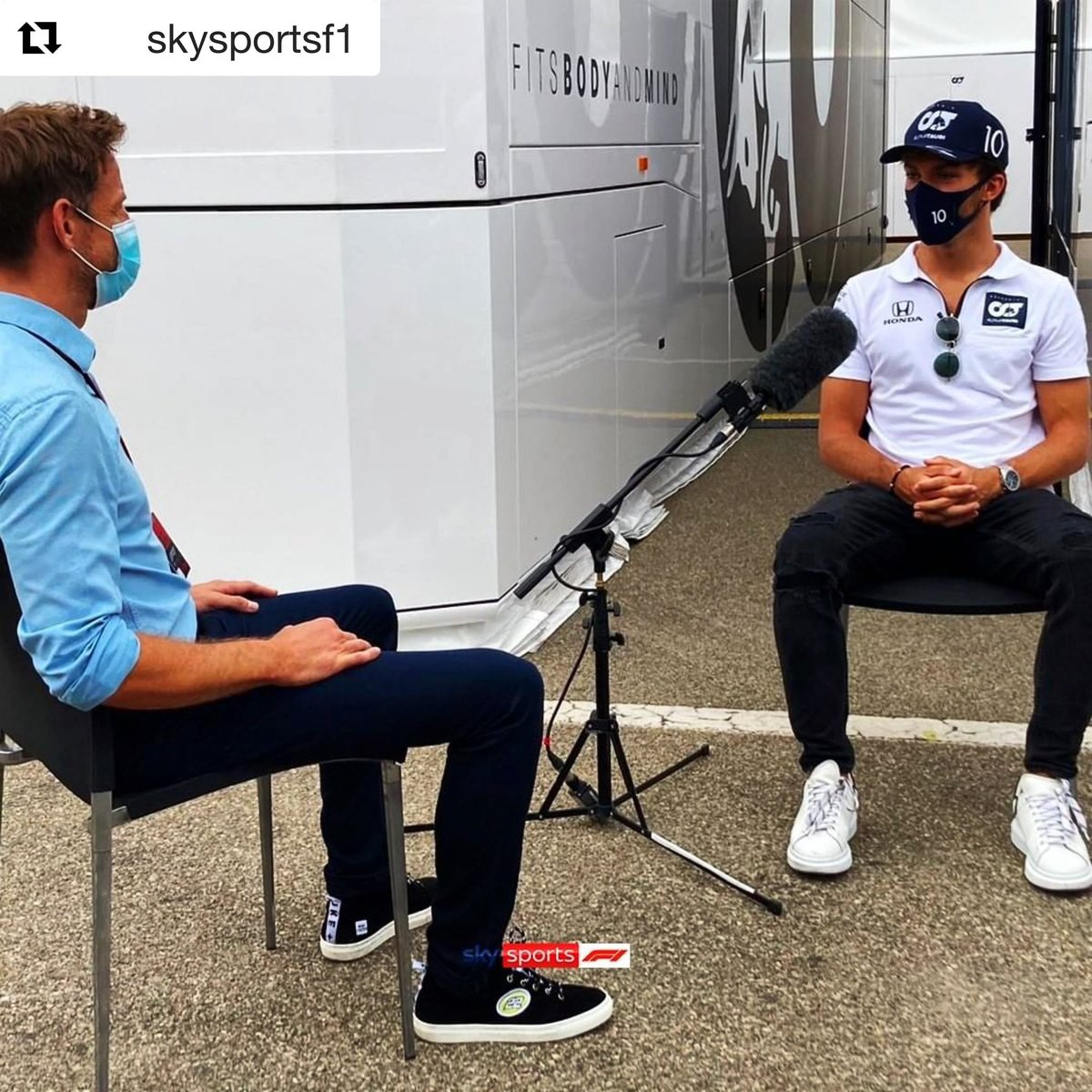 Great interview with @F1 latest Winner @PierreGASLY . Catch the chat on @SkySportsF1 this weekend. ・・・ #SkyF1 #F1 #Formula1 #TuscanGP #F12020 #Gasly #JensonButton #jb22 https://t.co/UhDgQMBFeA