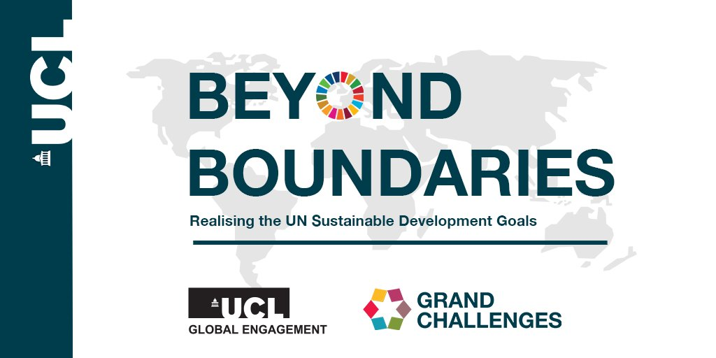 """How can universities help achieve the @UN #SDGs? @UCL_Global and @UCL_GC are hosting the virtual conference """"Beyond Boundaries: Realising the UN's Sustainable Development Goals"""" in October to explore this question. Find out more and register: https://t.co/MtrsPmMq6J @UCL_SDGs https://t.co/k2uAiOh90b"""