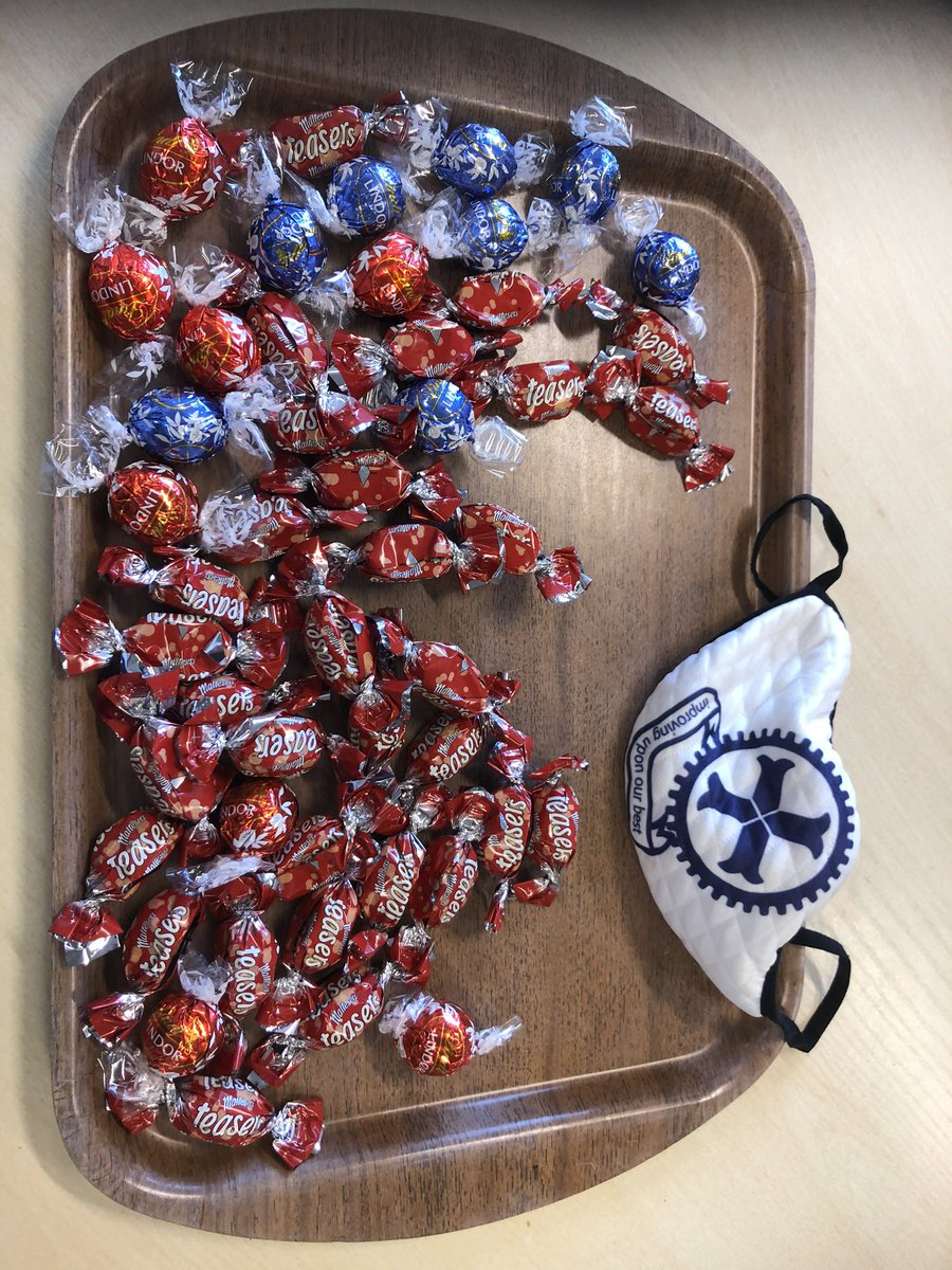 Our traditional Friday afternoon chocolates have a few additions this year.