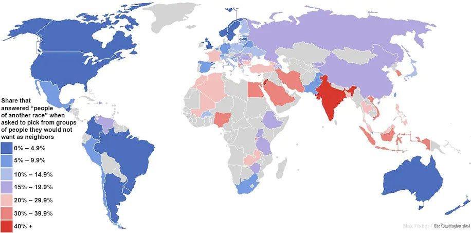 World's most and least racially tolerant countries China vs. India LOL
