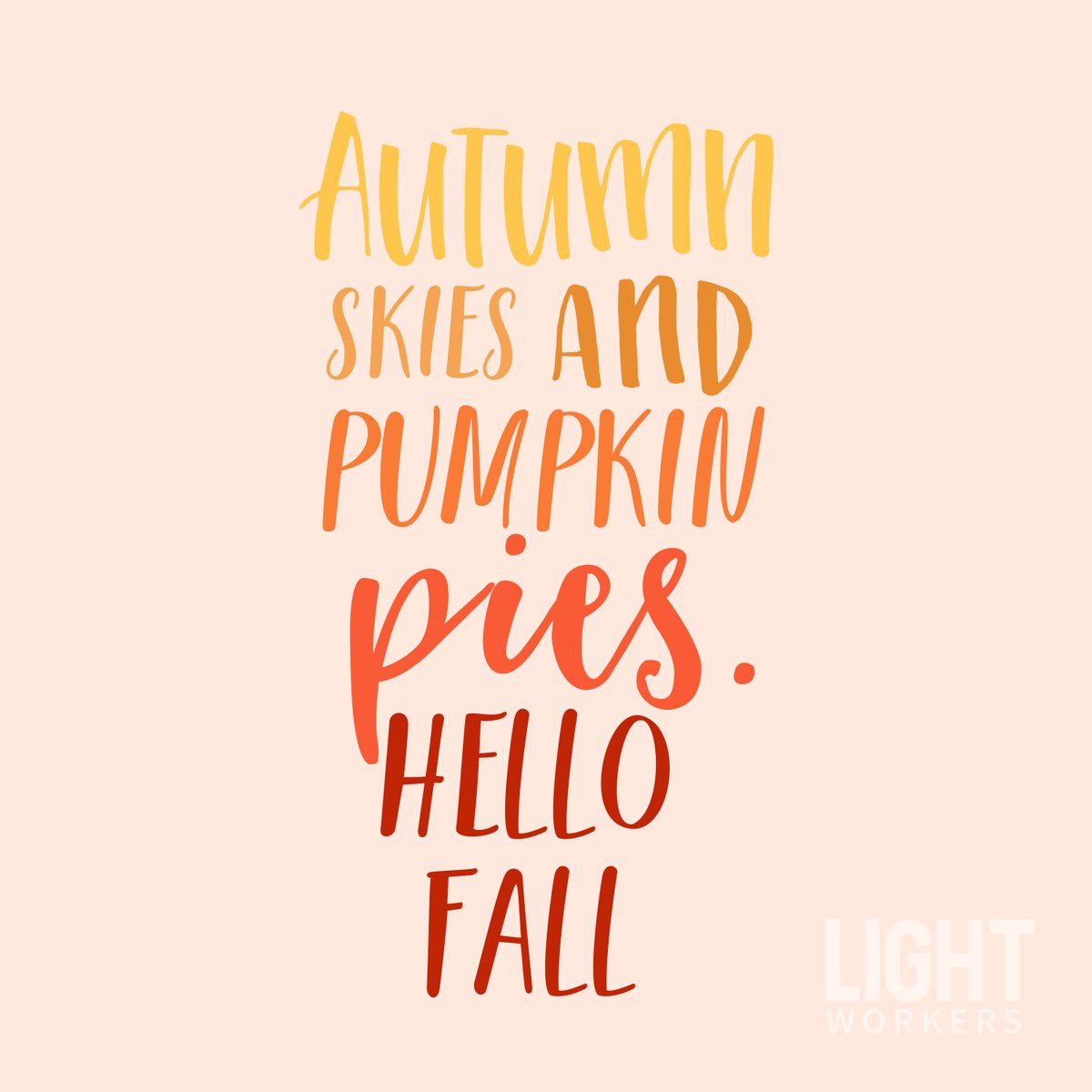 Pumpkin Spiced Everything Please! We hope everyone has a blessed and safe fall. 🍂🧡