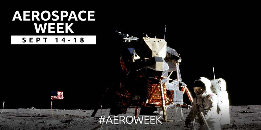 From the first flight through the skies to the first steps on the moon, the aerospace & defense industry has transformed the way we live, connect and explore. Join us in celebrating National #AeroWeek September 14-18! https://t.co/B154YhqSpc