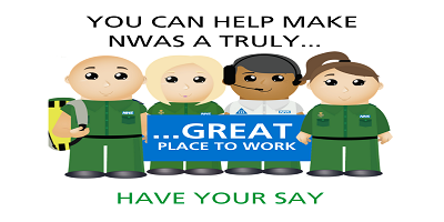 test Twitter Media - Health, Wellbeing and Culture Audit - Help us to keep improving, have your say. Your views are vital to helping make NWAS a truly GREAT place to work. Complete your survey via the staff app today! #greatplacetowork #yourwellbeingmatters https://t.co/8sTRzAhfgu