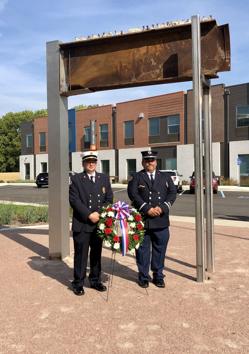 Remembering 9/11: Brownsburg firefighters to lay wreath at World Trade Center beam located at Arubkle Commons.  #NeverForget #inHendricks   https://t.co/yULkkHprgb https://t.co/qdr2gUBAiX