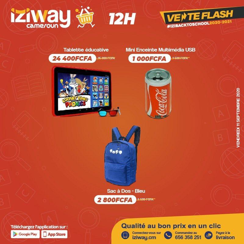 🚨C'EST PARTI!!! 🚨  IL EST 12H00H CONNECTEZ-VOUS!!!!  Il est l'heure, continuons avec la vente flash.   Faites vos achats et connectez-vous ici https://t.co/YK2c6UFYSS  #StockLimité #TempsLimité #VenteFlash #IziwayCameroun #izibacktoschool2020_2021 #iziflashsale #iziway https://t.co/ERJrKT3bSH