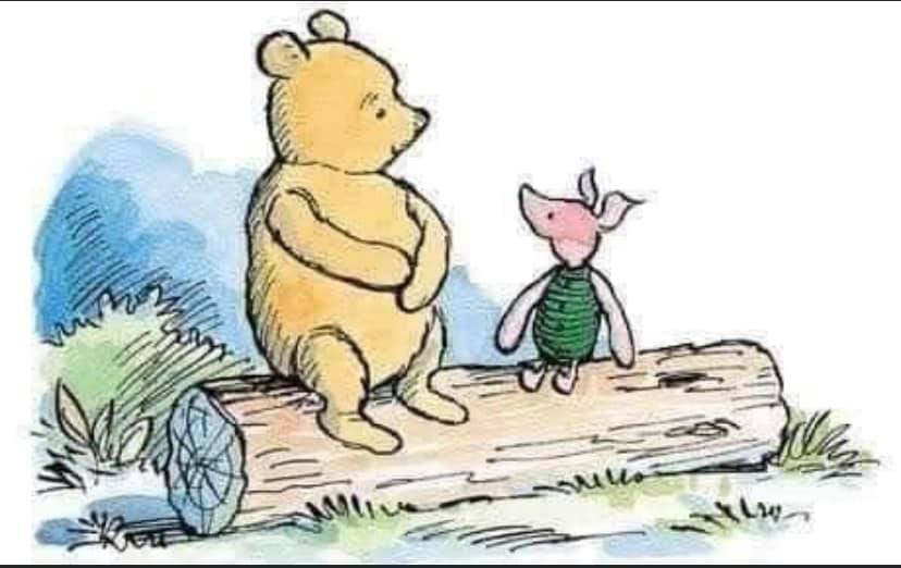 """""""Today was a Difficult Day,"""" said Pooh. There was a pause. """"Do you want to talk about it?"""" asked Piglet. """"No,"""" said Pooh after a bit. """"No, I don't think I do."""" """"That's okay,"""" said Piglet, and he came and sat beside his friend. https://t.co/2pcRIZwdDz"""