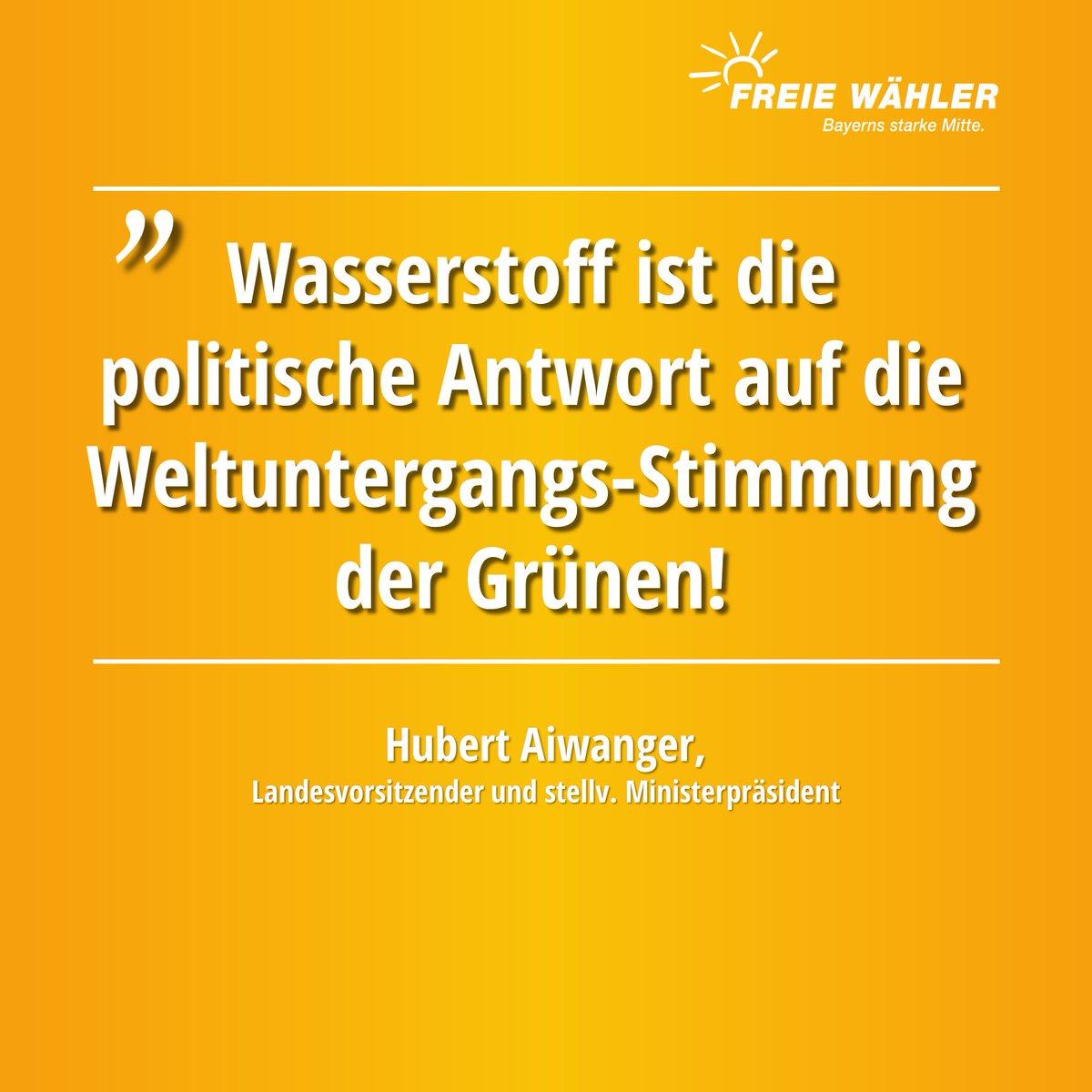 .@HubertAiwanger #Energie #Energiewende  #Umwelt #PositivNachVorne #Wasserstoff 👇 https://t.co/dRQ9hb24kk