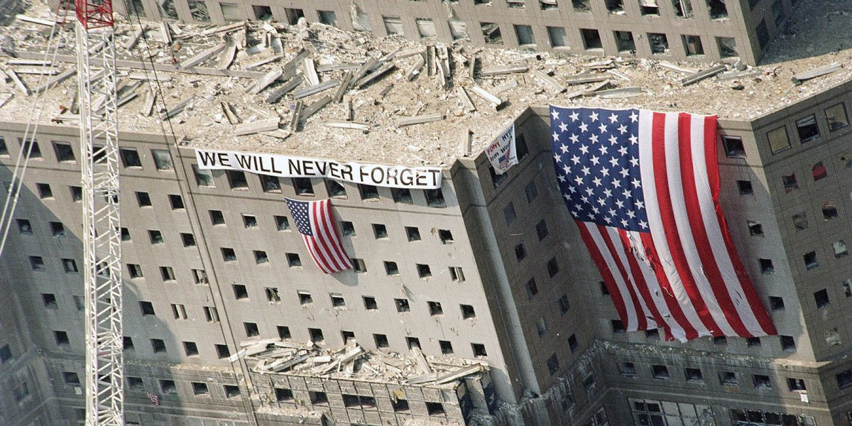 We all made a promise to #NeverForget.  Let's keep our promise by making the world a better place in remembrance of those lost and injured on 9/11, and the many who rose in service in response to the attacks.  You can help at https://t.co/VAmvDt1sds. #911Day https://t.co/1tI6chypWk