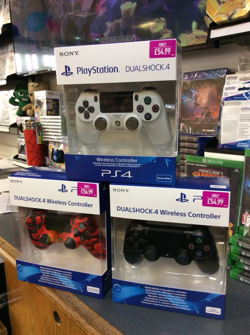 We have DualShock 4 controllers back in stock now. Need a replacement or a new controller? Did you know we offer accidental damage cover for just £7.49 Also Elite members will get over £5 back in points when you buy a new controller  #cheaperwhenyoutradeinatgame https://t.co/CAjRTZk0VR