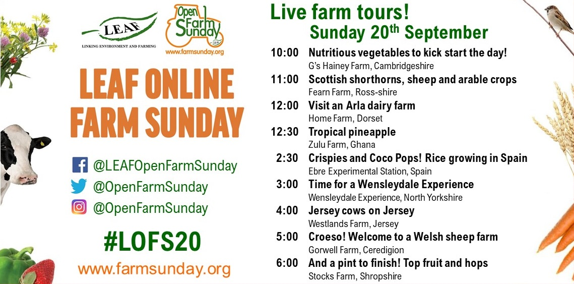🥁… Drum roll please …. 🥁  On Sunday, 20th September these brave farmers are diving in headfirst, giving us LIVE virtual farm tours! 👏  Tune into the LEAF Open Farm Sunday Facebook page to catch the action! #LOFS20 https://t.co/hWFurRscov