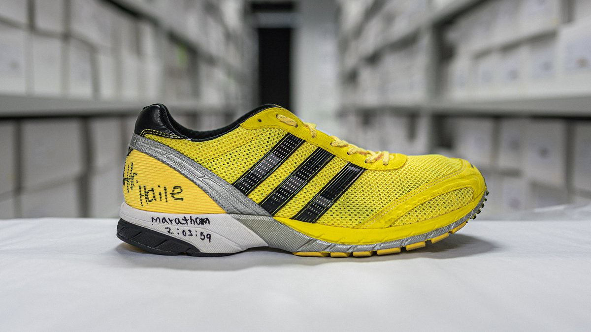 The 'Neftenga', or 'boss' as it's known in Ethiopia, is the first shoe in a long line of adizero adios success.@HaileGebr made the world watch as he smashed his own world record wearing the Neftenga at the Berlin Marathon in 2008.