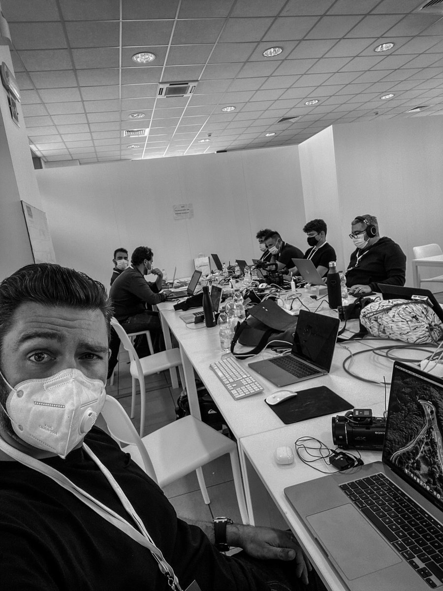 Backstage pre MC20 launch. Editing the first look video between rehearsals. https://t.co/0TiXvi7IsF