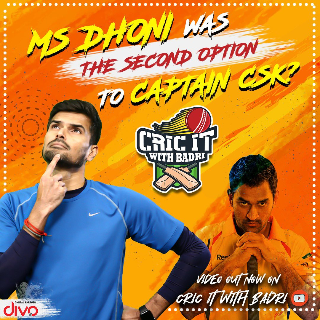 MS Dhoni and CSK how it all started **brand new video** check it out here      https://t.co/D0hpKdKqZB  #Cricitwithbadri #IPL2020  #IPL https://t.co/fdlegL42VZ