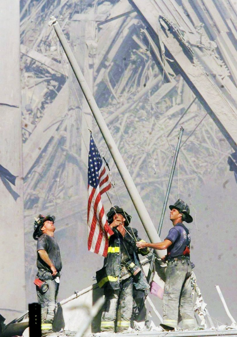 19 years ago today. 9/11/2001. #NeverForget (Photograph by @TomEFran)