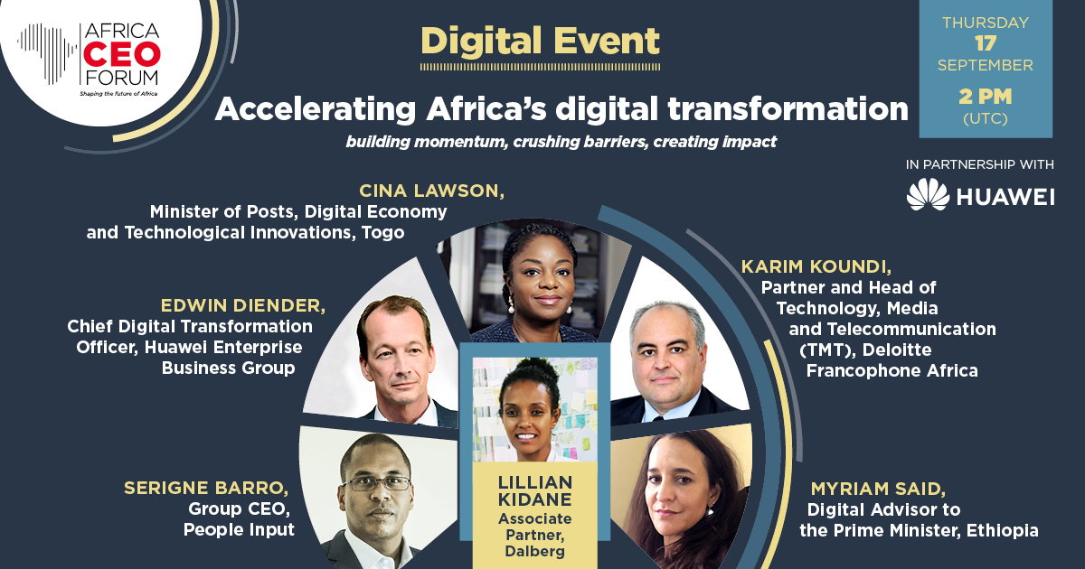 Accelerating Africa's digital transformation-building momentum, crushing barriers, creating impact 📱🔍 Digital infrastructure, training and education, digital services: how to build the ecosystems required to thrive. Join us on September, 17 at 2pm (UTC). https://t.co/wW9ZTvWOvv https://t.co/fdaCN3WMUT