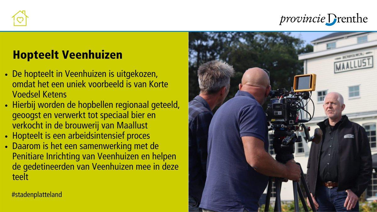 Een filmploeg is namens @minlnv vandaag op bezoek bij @Maallust in Veenhuizen. Daar filmt het de hopteelt, een uniek voorbeeld van een Korte Voedsel Keten. Op 5-10 wordt de film getoond aan minister @carolaschouten. Meer weten over ketens in Drenthe? ➡️ https://t.co/2pGEbZnUzi https://t.co/P52HHi55gN