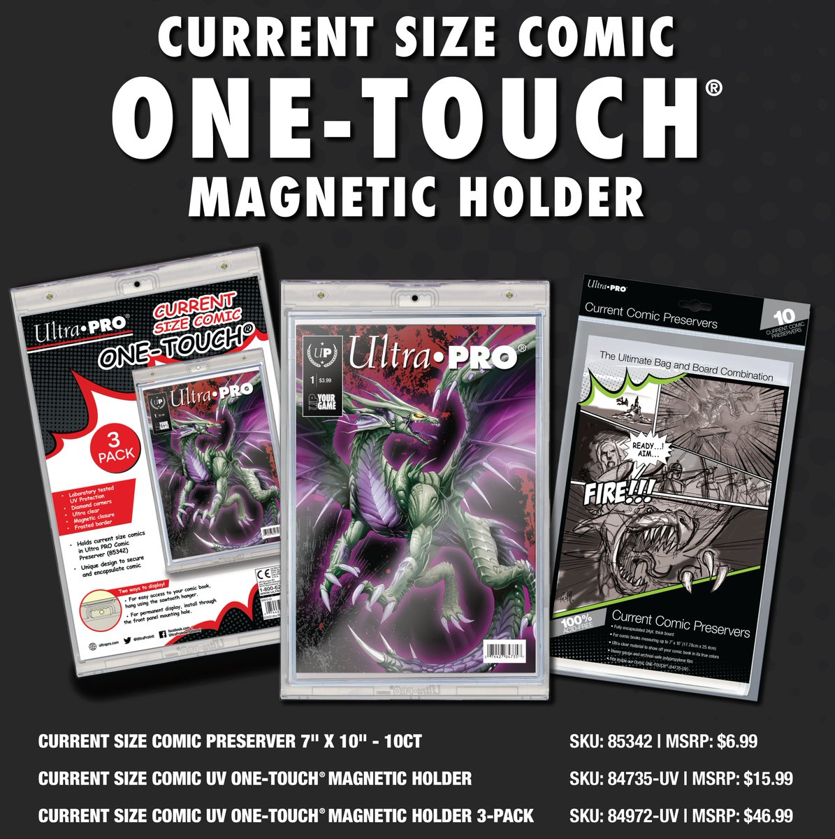 Current Ultra Pro One Touch Magnetic Comic Holder