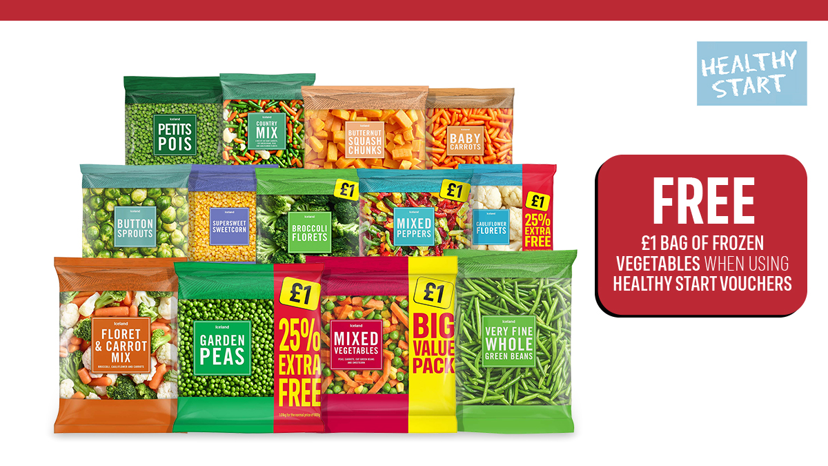 📢 As of today, anyone who uses a Healthy Start voucher in store will get a free bag of frozen veg, worth £1 📢 We're proud to stand alongside @MarcusRashford and support his vital campaign to help #ENDCHILDFOODPOVERTY