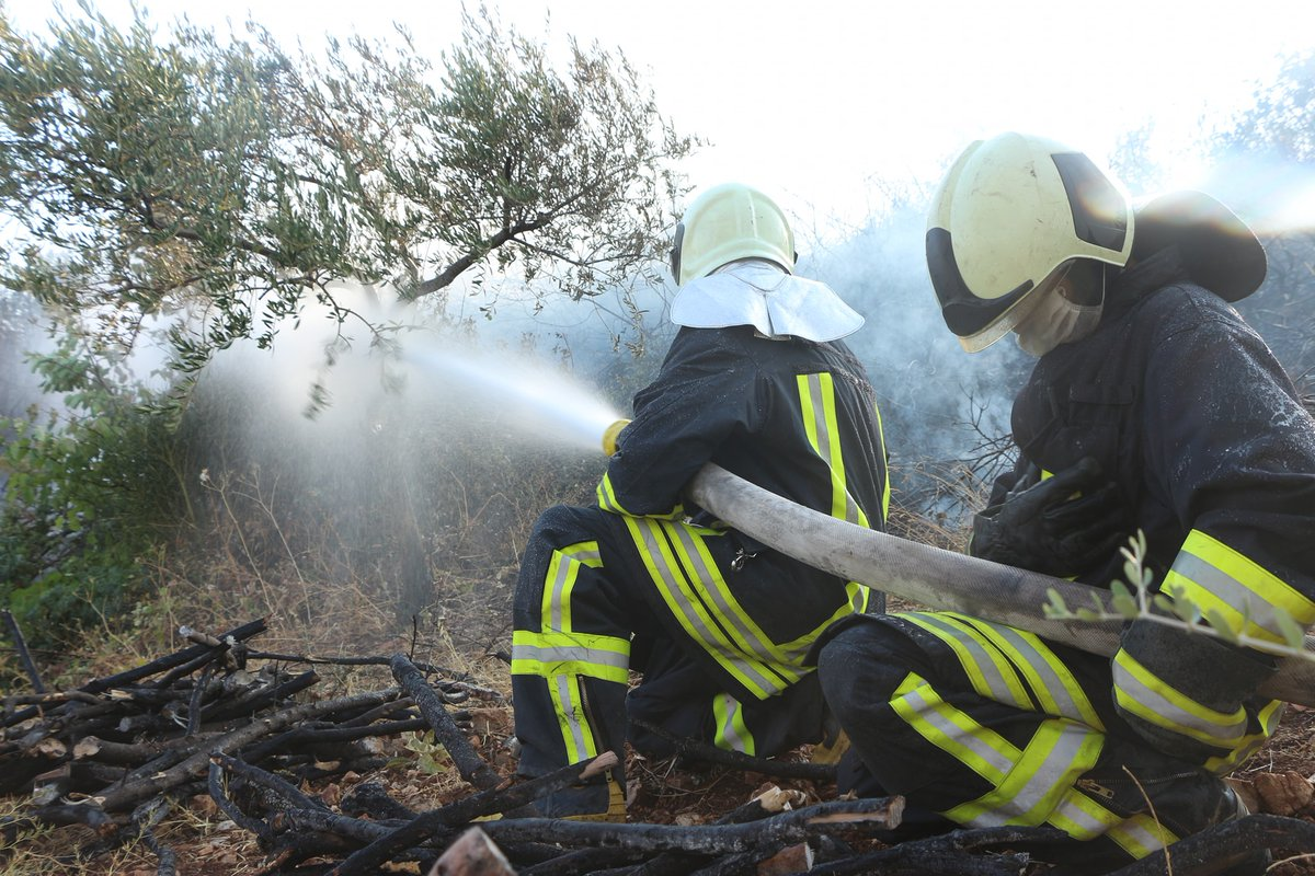 #Syria has seen a spate of large forest fires in recent weeks.