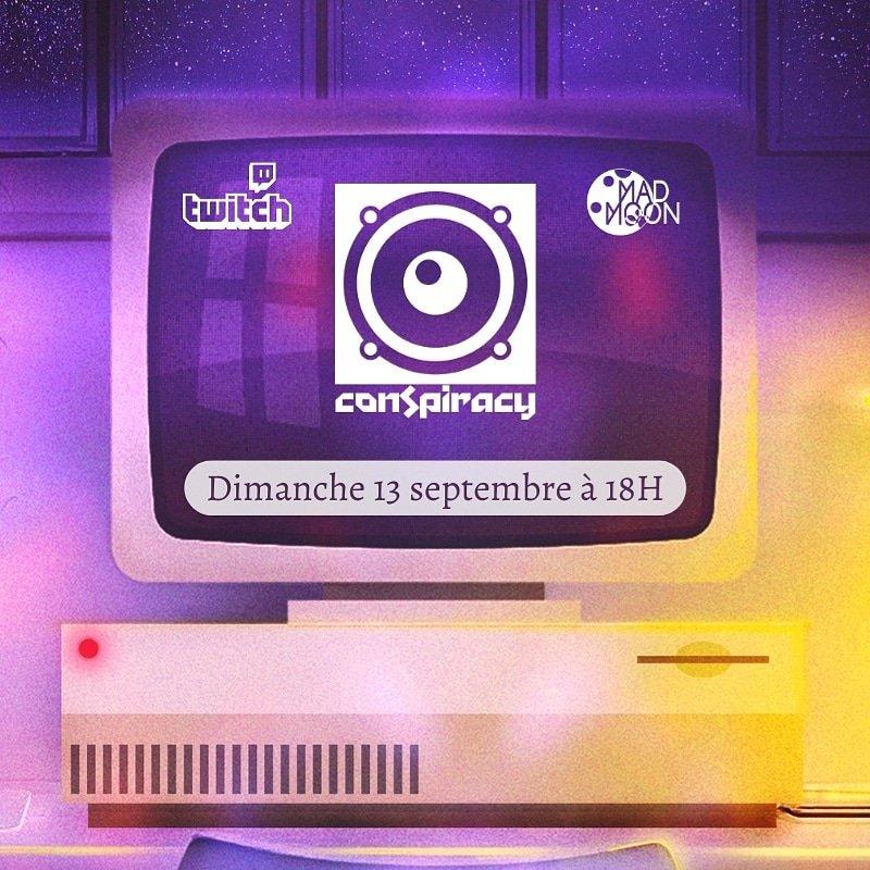 """Conspiracy events sera parmi nous pour la 3 ème édition de notre émission """"THE MAD TIME"""" 🌒  Talk hardmusic bien sympathique qui arrive dimanche 🔥  Rdv à partir de 18h sur twitch 💜🙏  #hardmusic #hardcore #hardevent #madmoonevent https://t.co/LypSkDzx1Z"""