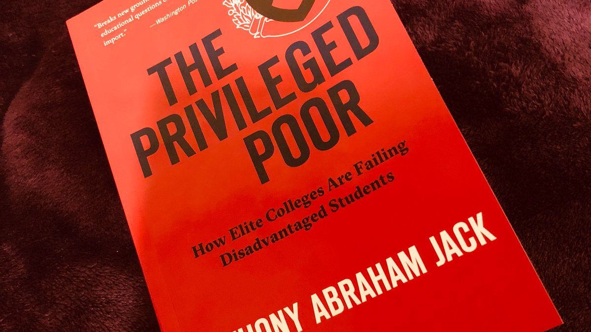 """""""Access is not inclusion. What does it mean to be a poor student on a rich campus?"""" Started to read #ThePrivilegedPoor by @tony_jack. https://t.co/ZmdeUC1GU2"""