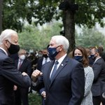 Image for the Tweet beginning: Wearing masks, Joe Biden and