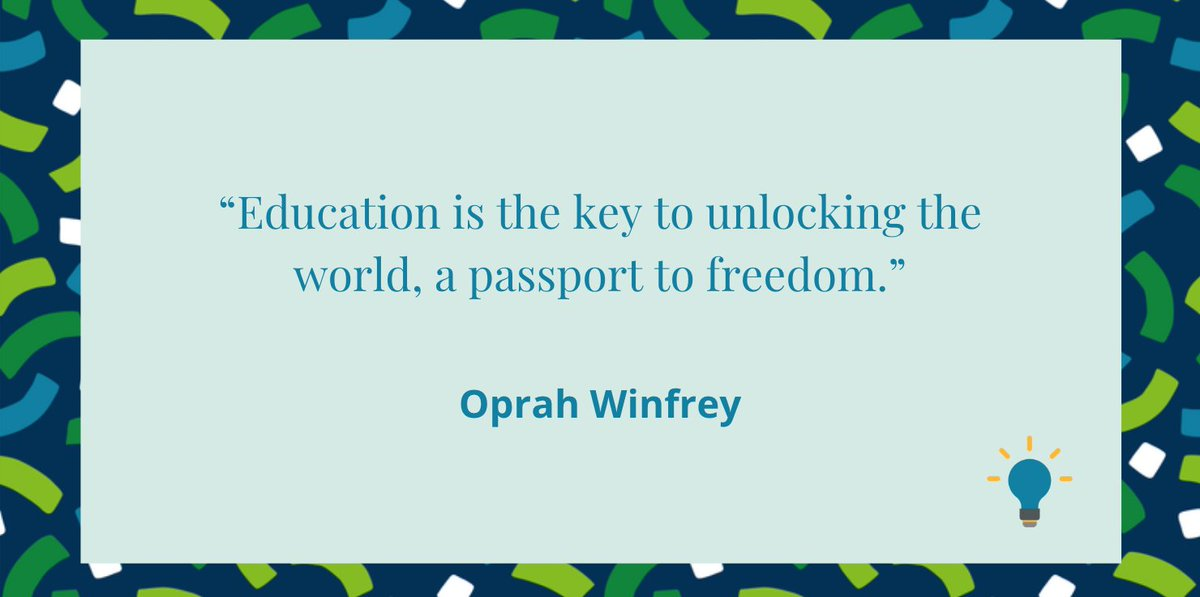 We love this quote from Oprah.   What does #education mean for you?   #Teaching #TeacherQuote #Backtoschool https://t.co/XmtvfrlDwJ
