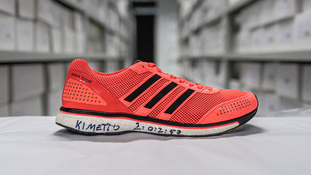 With the adizero adios Boost 2.0 on his feet, Dennis Kipruto Kimetto changed fast forever at the 2014 Berlin Marathon. Crossing the finish line in a world record 2:02.57, Kimetto and his running shoes left their mark on marathon running.