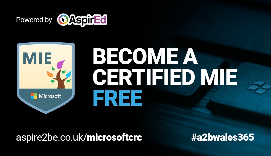 Ready to earn your #MIE badge this year?   Join our exclusive & FREE #MicrosoftUK #belndedlearning webinars to earn your certificate.   Register at https://t.co/5zsrmxz7mW   #A2BWales365 #MIEExpert #MicrosoftEDU #MSFTEduChat #TweetMeetEN https://t.co/bTE2GBU6kV