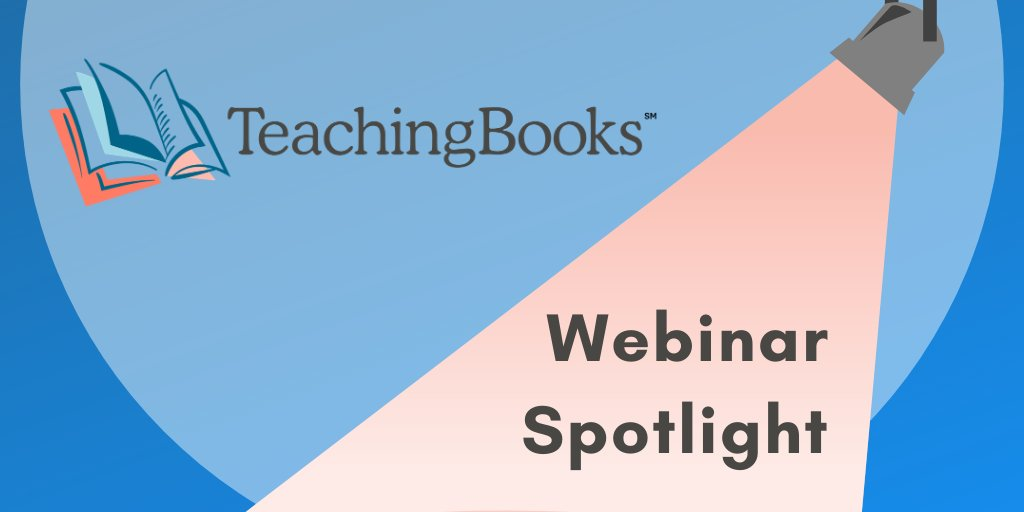 test Twitter Media - Find the Perfect TeachingBooks Resource -  Wednesday, Sept. 23, 2020 9CT  Enjoy browsing and searching on TeachingBooks while discovering the perfect resources to meet your needs.  We'll share advanced search techniques. Register:  https://t.co/tyggfGpKKB https://t.co/eFUvrwkVJa