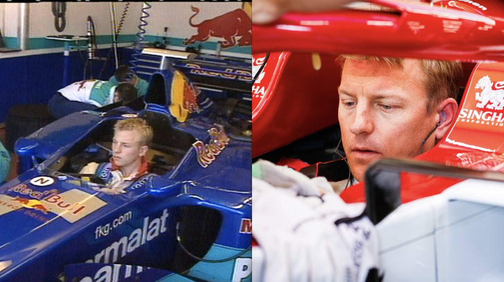 Same driver. Same venue. Same passion. 20 years of history written in between. 🥇  Kimi will celebrate two decades from his first ever @F1 test with Sauber tomorrow.   #TuscanGP #Kimi7 https://t.co/luFrFEGAYx