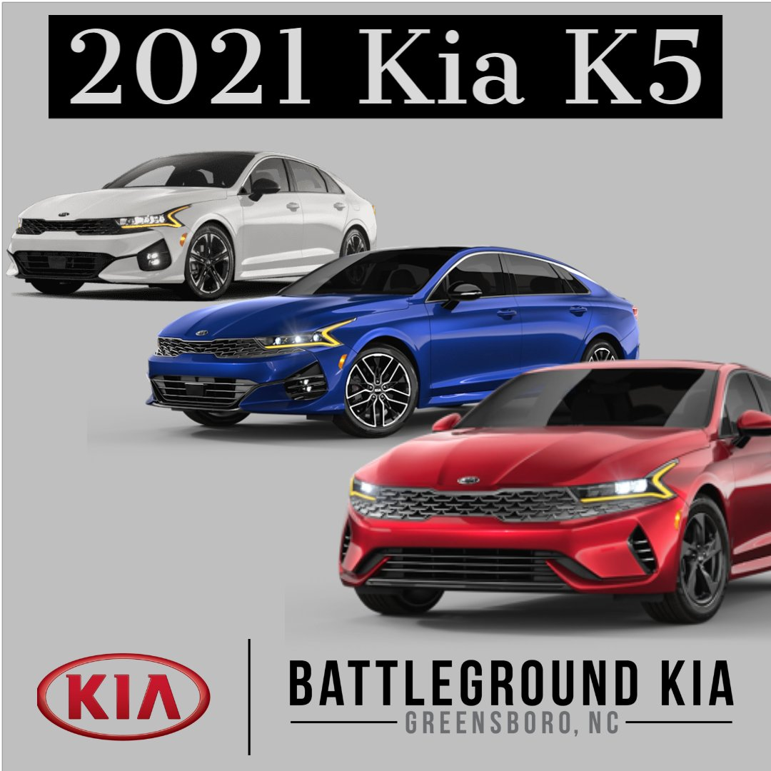 Check out the 2021 Kia K5 at Battleground Kia today!  https://t.co/HYysOUWYla  #WelcomeToTheFamily #Kia #Soul #Sorento #NewCar #Car #SUV #BattlegroundKia #Greensboro #NC #NewCar #Sale #Dealership #KiaK5 #K5 #KiaOptima https://t.co/T7khRBHyq1