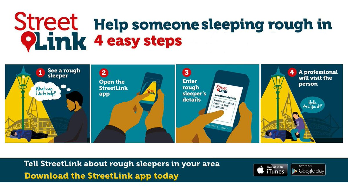 If you see someone who's #homeless and #RoughSleeping over the weekend, please contact @Tell_StreetLink.  An outreach team will be alerted and sent out to connect them to local services. More information 👉  https://t.co/PhjejPkQU0 https://t.co/6fTMgIOmIs