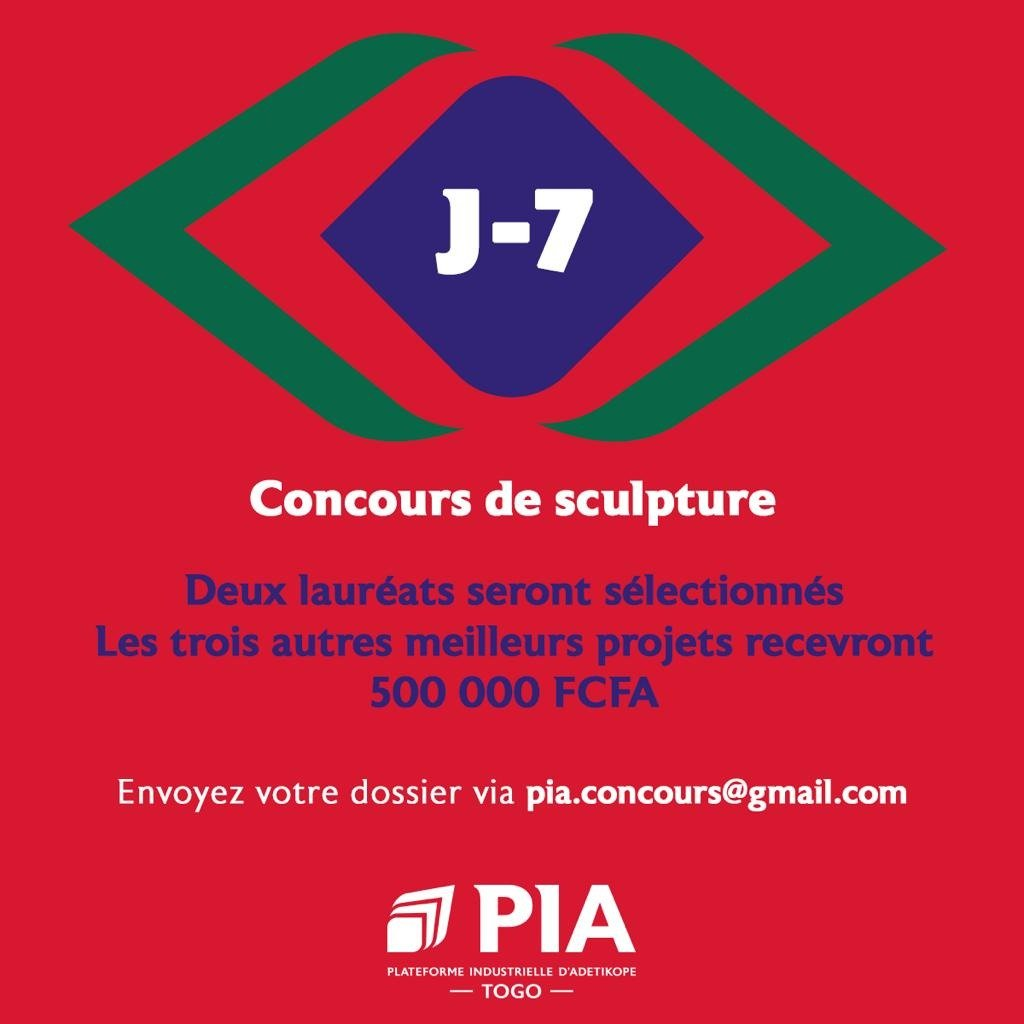 🏆ARISE lance la Plateforme Industrielle d'Adetikope au #Togo 🇹🇬 ! À cette occasion, un grand #ConcoursDeSculpture est lancé ! Il récompensera des jeunes talents du Togo qui auront la chance de laisser leur empreinte sur un monument du pays !  ❗Détails :  https://t.co/EZPRk7wG9b https://t.co/W7qjH7RhCd