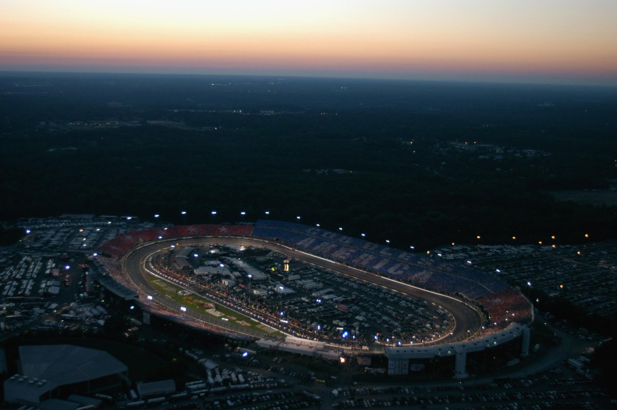 Never Forget. September 7, 2002, 100,000 fans created a card stunt salute to America in recognition of the upcoming anniversary of the September 11th terrorist attacks during the NASCAR Winston Cup Chevrolet Monte Carlo 400 at Richmond International Raceway in Richmond, Virginia.