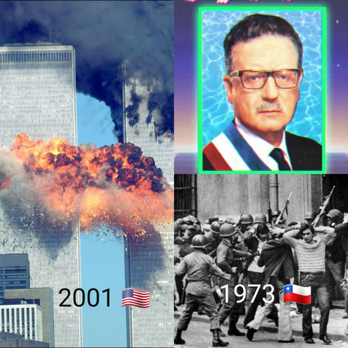 #USA #Chile #Latin_America #Terrorism #Civil_right #911Remembered #Chicken_hawk May peace & freedom forever! 😢 #Remember_911 😢 #Fuck_Pinochet 🖕🏻🤬 #NO_terrorism_BUT_also_say_NO_to_chickenhawk https://t.co/bVQlZguPoa