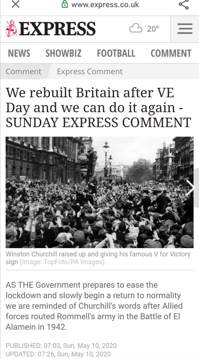 I'm confused. How does a paper that is still actively fighting #WorldWarII know anything about #veday, let alone #coronavirus? https://t.co/VVmrtB9Sg2