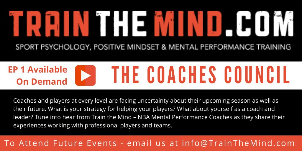 Train the Mind kicks off the first Coaches Council w/@CoachPerkins & NBA mental skills trainers @MentalBuckets and Graham Betchart. #trainthemind # OnDemand link https://t.co/QNLQK7Bxtb https://t.co/4sw3RoQovr