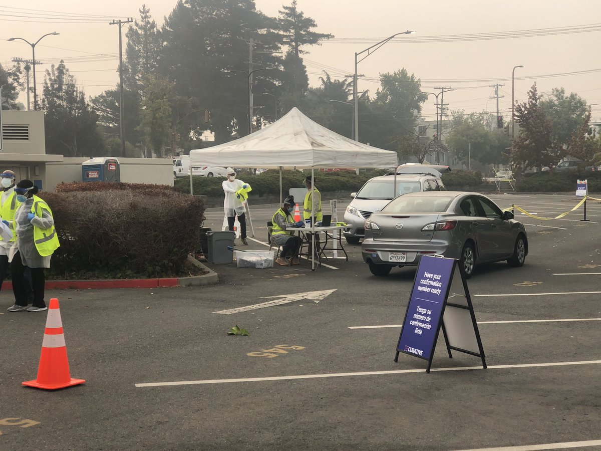 Berkeleyside On Twitter Drive Through Covid19 Testing By Online Appointment Has Started Up At The North Berkeley Bart Station And Is Set To Be There 3 Weeks Run For The City By Curative