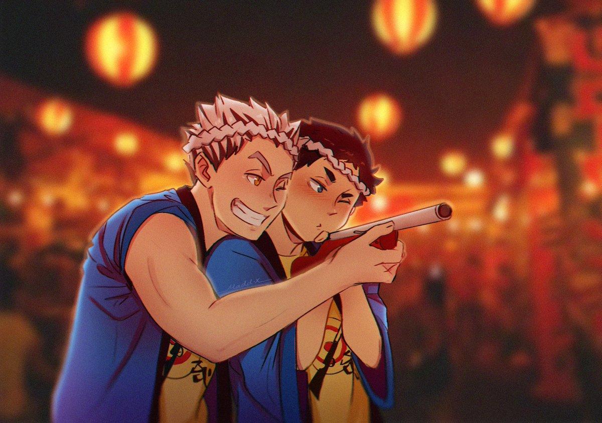 aim for my heart  ❤️️ #bokuaka #ハイキュー #haikyuu